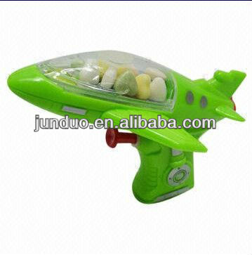 Candy, Sweet, Sugar Toy with Water Gun, Plane Modelling and Green Color