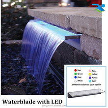RGB LED waterfall for swimming pool waterfall garden ornament