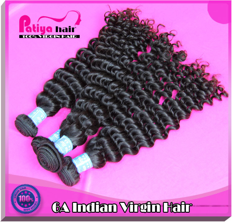 Unprocessed wholesale double drawn Indian hair for Indian sexi lady