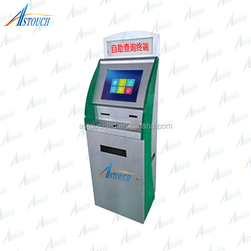 26 Inch Bill payment kiosk/Self service payment kiosk/Payment terminal with Auto Printed Function