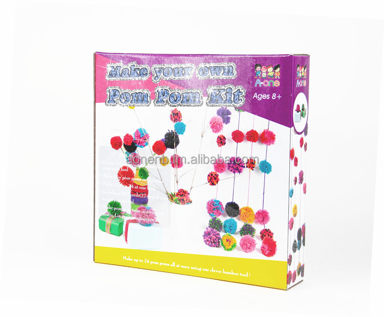DIY Craft Toy Pompoms Kit
