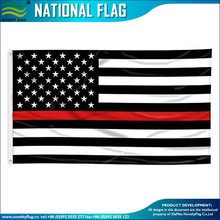THIN RED LINE AMERICAN FLAG WITH GROMMETS 3x5ft