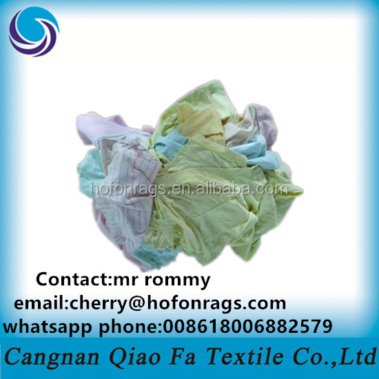 color light cotton industrial wiping rags