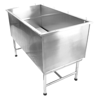 Good sealing stainless steel dog tub for large dogs H-101