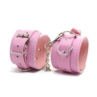 2014 Hot Adult Game Black/Red/Pink Leather Wrist Sex Toys Restraints Hand/Wrist/Ankle Sex Cuffs Toys Sex Product For Couples