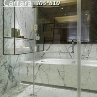 cheap natural stone tiles , thin slab white carrara marble mosaic tile
