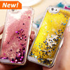 Hot ! Glitter Stars Dynamic Liquid Quicksand Hard Case Cover For iPhone 6/ 6Plus Transparent Clear Phone Case