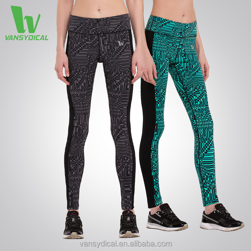 Women's Compression Tight Pants Yoga Sports Fitness Printed Leggings