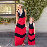 Wholesale China 2016 Summer Fashion Mommy And Me Maxi Dress Family Matching Clothing Mother Daughter Clothing