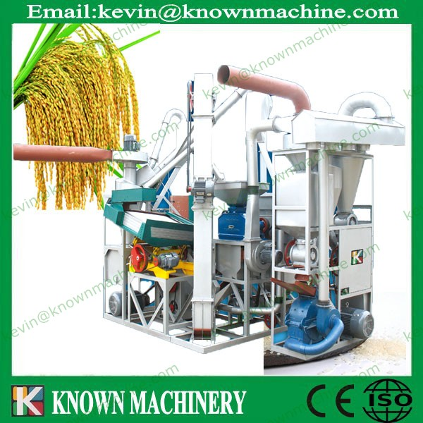 Made in China 1100 kg/h combined rice mill / mini rice mill plant