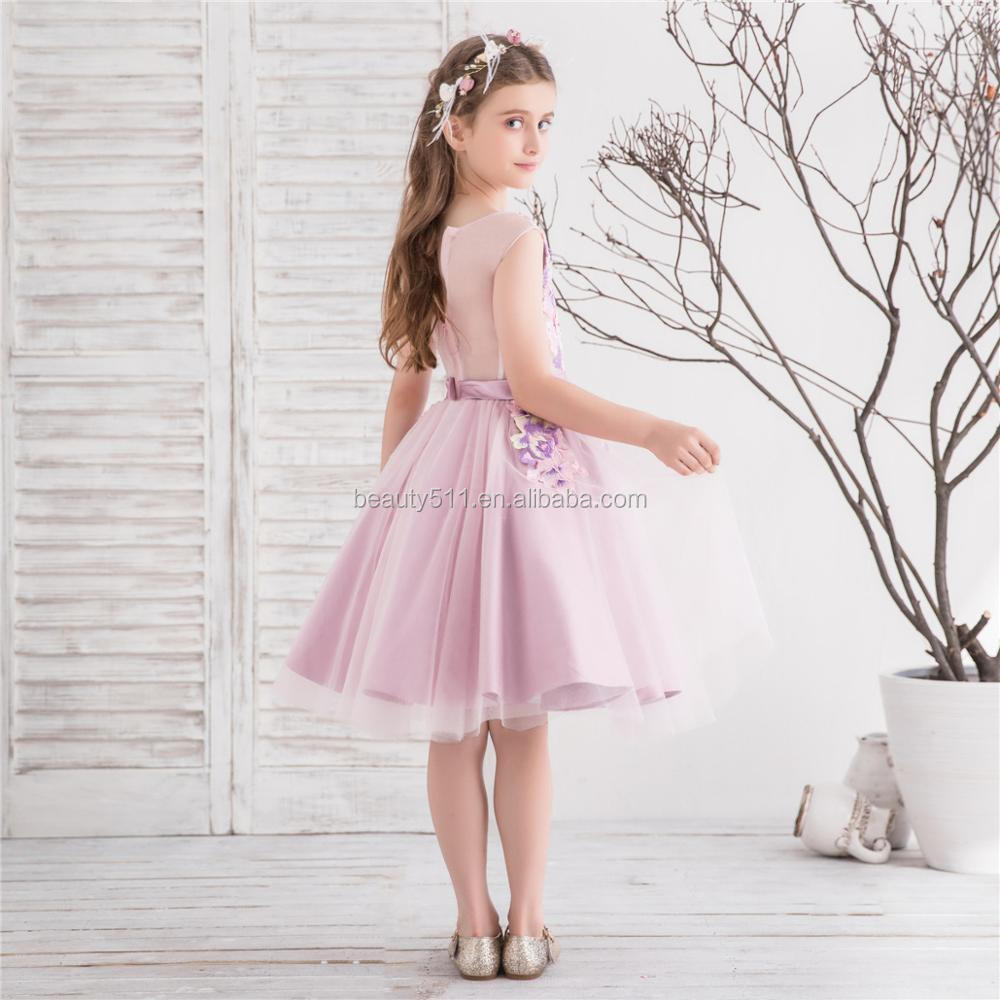 2018 princess flower girl dress communion style ball gown Cathedral Train children dress for little girls flower girl dresses