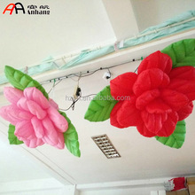Ceiling Inflatable Rose Flower Light for Party Decor