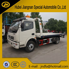 New Dongfeng DFAC dolika flat bed road wrecker low bed tow truck slide flat bed recovery truck Rescue Towing Car 3Ton
