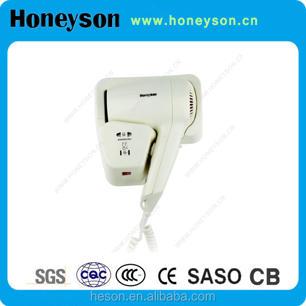 Honeyson Swivel power cord hair dryer wall hanging for hotel