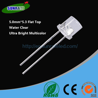 7 Years Verified Supplier Emitting Diode High Quality 5mm*5.3 Flat Top Lamp Led Diode Light