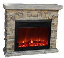 Wholesale Two Sided Decor Flame Fireproof Electric Fireplace Heater