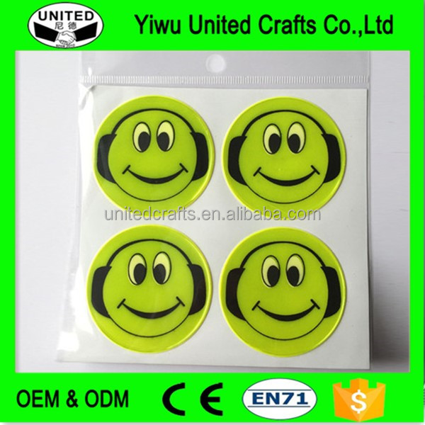 2016 promotional custom pvc halloween reflective stickers