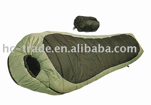Outdoor camping mummy lightweight army sleeping bag