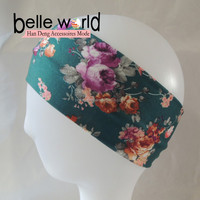 Wholesale Girls Soft Spring Design Flower bulk fabric headbands