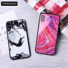 TOMOCOMO Luxury Fashion Marble Pattern Phone Cases For iphone6 6Plus 7 7Plus 8 8Plus X Coque Glass Back Covers Capa Fundas