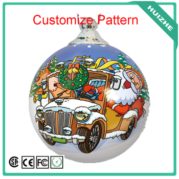 High Quality Customize Pattern Big Plastic Ornament Decoration Christmas Ball, Christmas big ball