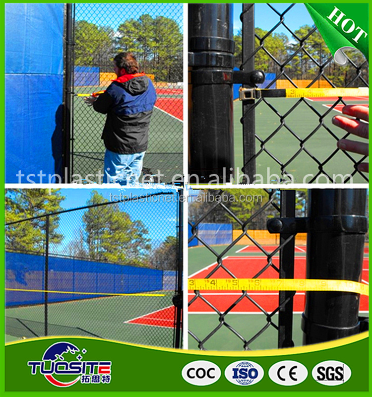 HDPE tennis court privacy fence screen with copper or alumiinium grommets