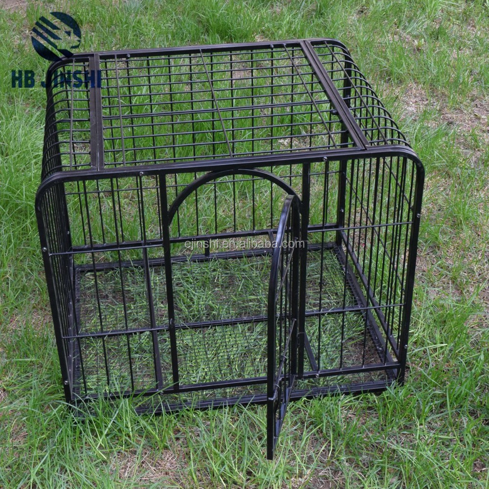 Metal wire mesh two door pet dog crate/dog cage/dog kennel