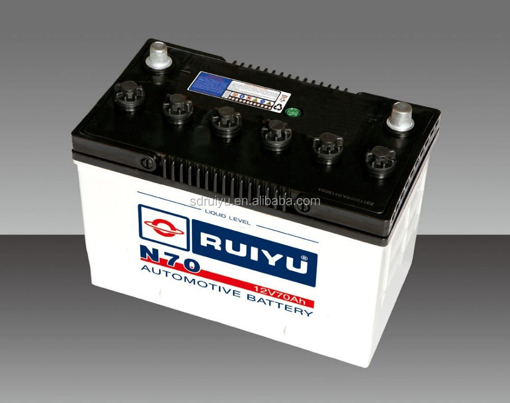 Dry charged CAR BATTERY 12V70ah