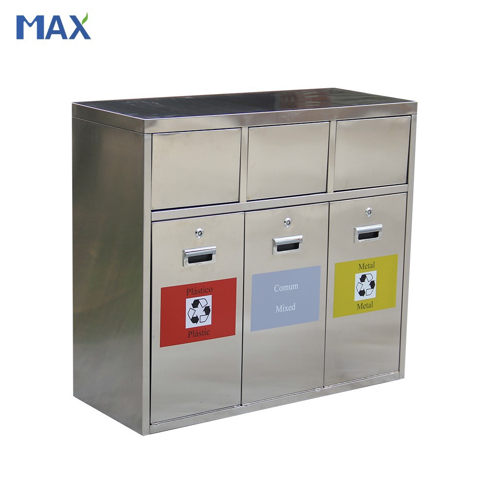 stainless steel recycling garbage waste bins