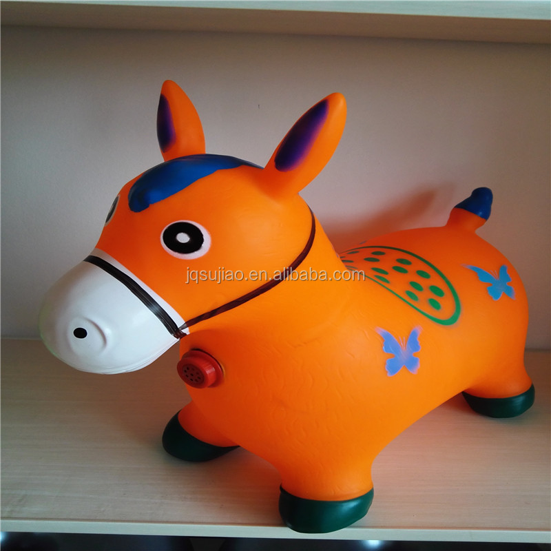 jumping animal bouncing toys painted horse kids inflatable toy animals