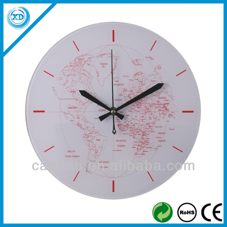 12 inch glass wall clock nice design