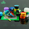 silicone jars dab wax container used for smoking tobacco pipe