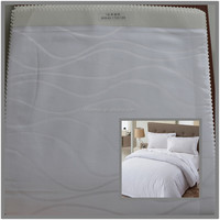 100% cotton sateen jacquard sheet fabric for hotels and hospitals