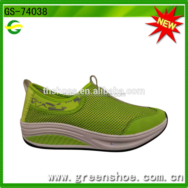 Elevator shoes Fashion lady casual slip-0n flatform women height increasing shoes