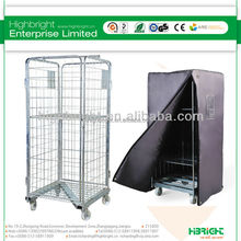 4 sides logistic transport supermarket wire roll cage