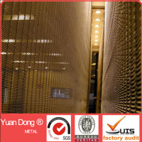 Rod cable woven decorative facade metal mesh screen