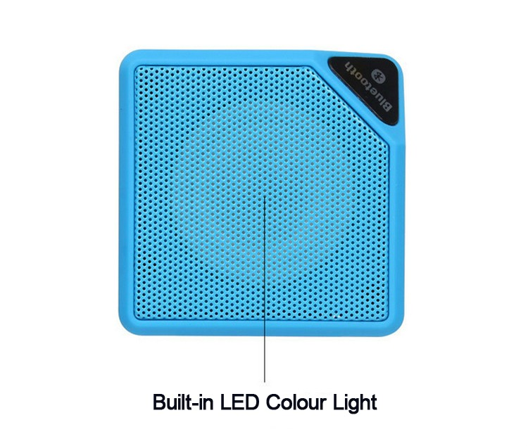 Zyiming New magic cube 7 led bulb speaker flashing wireless bluetooth speaker 2017 with radio
