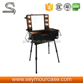 Lighted Makeup Mirror Box Wholesale Makeup Cosmetic Bag