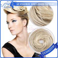 SIRUI low MOQ factory wholesale hair bun hair piece wigs,braided hair bun,big hair buns
