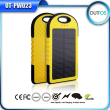 New design best price solar waterproof mobile phone charger powerbank