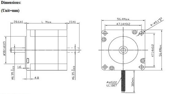 57hs 2 phase high torque dc stepper motor  u0026 nema 23 motor driver