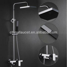 Wall Mount Waterfall Shower Faucet with Shower Head + Hand Shower BL1501
