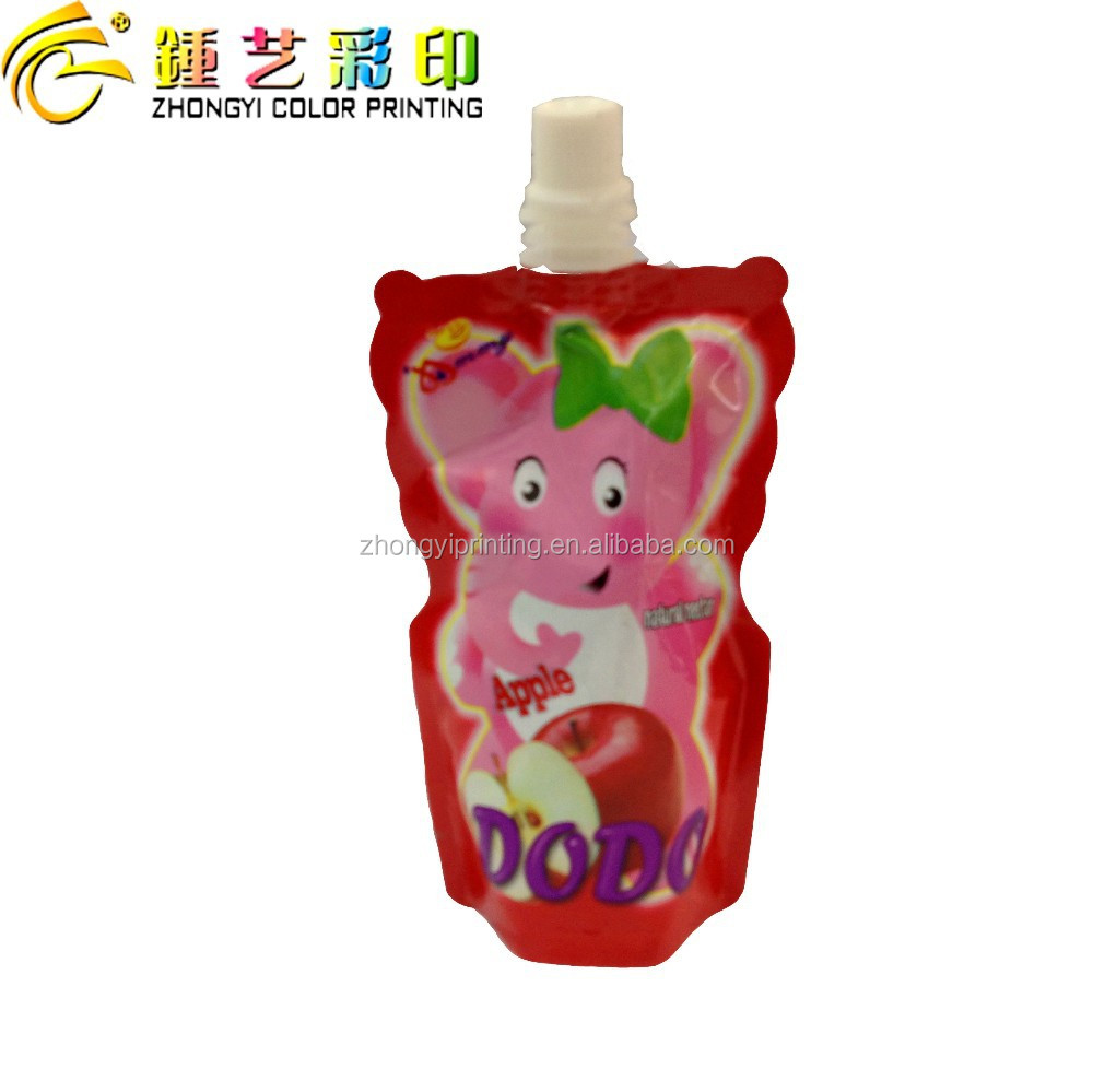 2015 Hot Sale Special-shape food packing bag,with center spout top standing pouch packing&printing