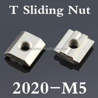 White zinc sliding nut for aluminium profile