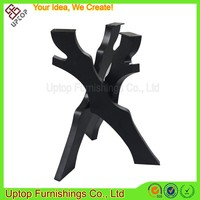 (SP-MTL221) Cross decorative cast iron branch metal table leg