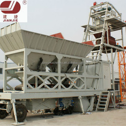 China mobile aggregate mixing YHZS40 mobile concrete batching plant