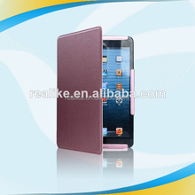 new design Newest wholeselling folding leather case for ipad mini