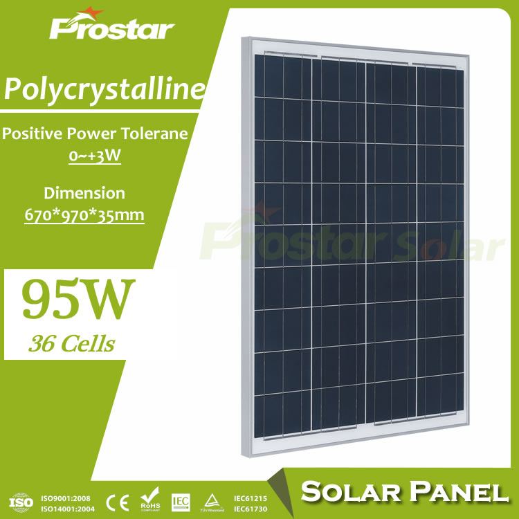 Poly Solar Panel 95w solar panel polycrystalline photovoltaic module 12v for solar electric power