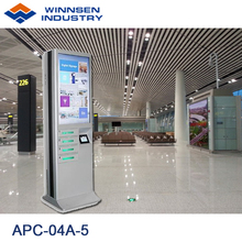 Winnsen Free Standing Mobile Device Charging Station Kiosk APC-04A with Lock Box for Airort