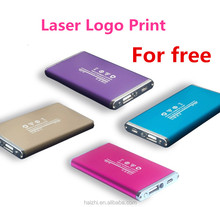 2017 Promotional gift universal portable 6000mah power bank, laser company logo for free